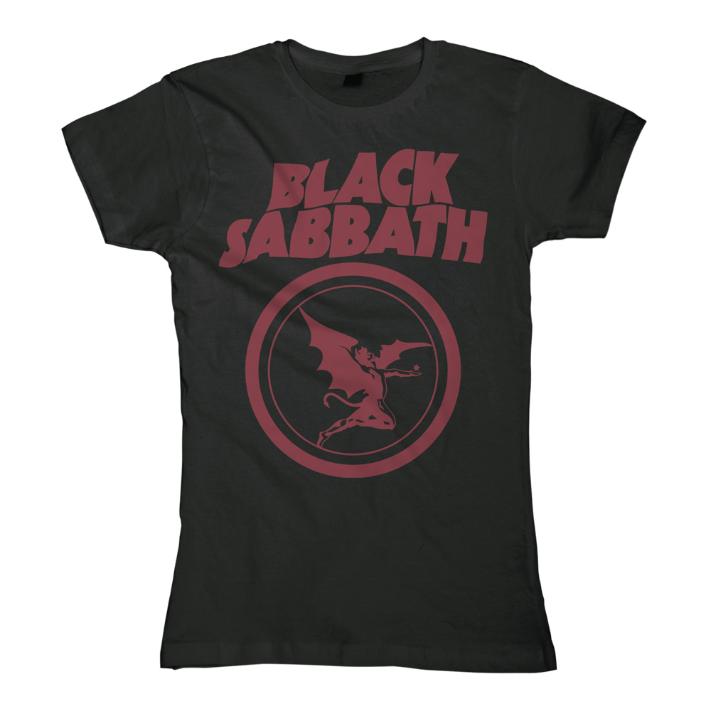 Fallen Angel Logo von Black Sabbath - Girlie Shirt jetzt im Black Sabbath Shop