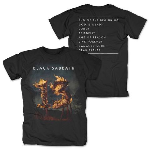 √13 Tracklist von Black Sabbath - T-Shirt jetzt im Black Sabbath Shop